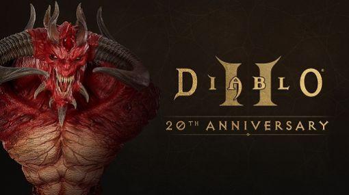 「Diablo II」20周年を記念したキャンペーンがスタート。10インチの「ディアブロ胸像」の販売も開始