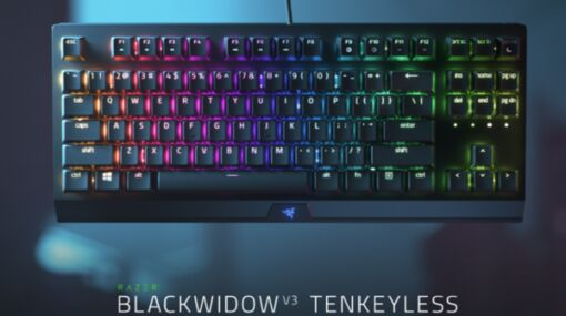 Razerからハウジングが改良されたゲーミングキーボード「Razer BlackWidow V3 Tenkeyless」やゲーミングチェアの限定モデル「Razer Iskur Black」などが発売決定